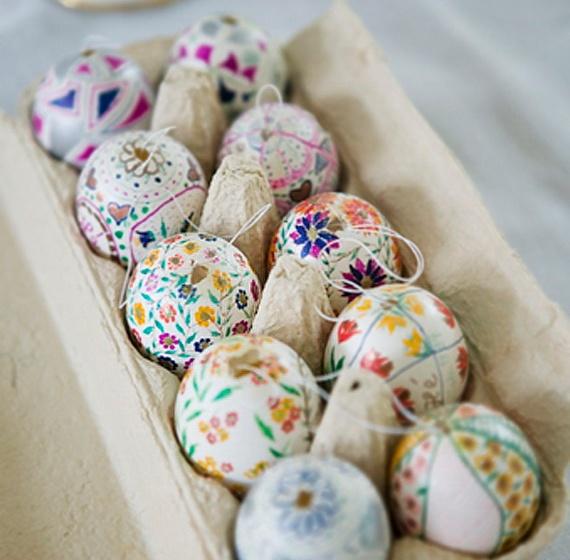 easter egg decor idea - Easter Decorating Ideas