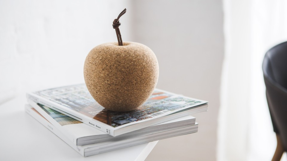 Pomme is a paperweight and pin cushion created entirely from the leftover materials scattered about the Norwegian's workshop.