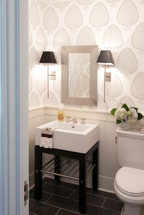half bath wallpaper inspiration niche nook