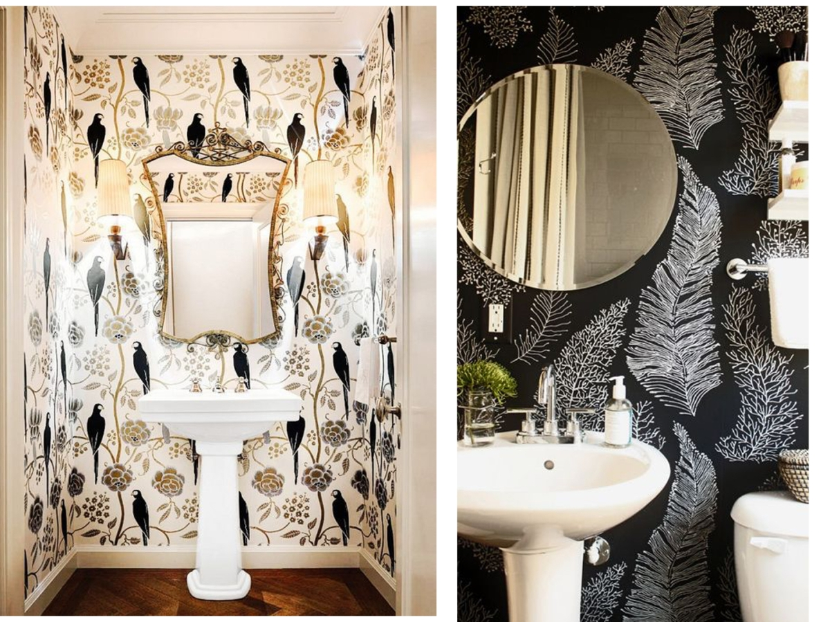 Half-Bath Wallpaper Inspiration