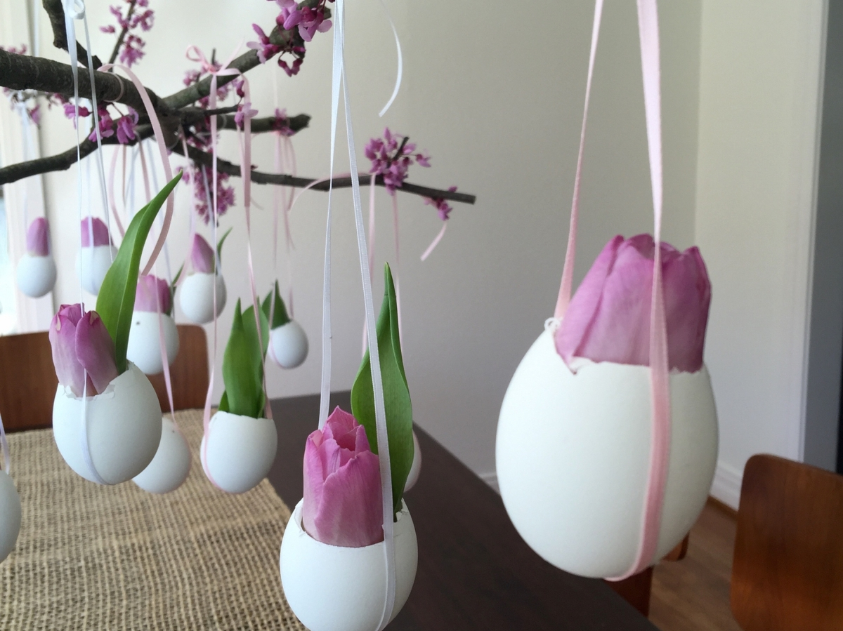 DIY - Hanging Flower Eggs