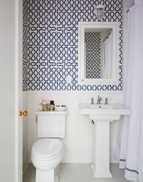 Half Bath Wallpaper Inspiration Niche Amp Nook